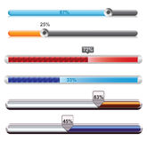 Progress bar. Loader different colors illustration set for web royalty free illustration