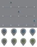 Progress bar. Loader different colors illustration set for web Stock Image