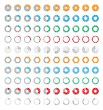 Progress bar icons Royalty Free Stock Photography