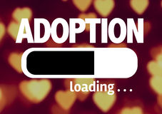 Progress Bar Loading with the text: Adoption Stock Photography