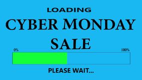 Cyber Monday Sale. Progress Bar Loading with the text: Cyber Monday Sale