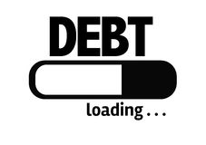 Progress Bar Loading with the text: Debt Stock Images