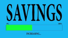 Savings. Progress Bar Loading with the text: increasing savings stock footage