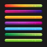 Progress Bar Set For Games. Set 2 Royalty Free Stock Photos