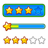 Progress bar set with stars Stock Images