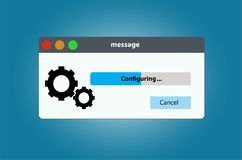 Progress bar system configuration settings. Vector isolated on background royalty free illustration