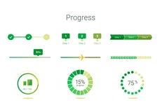 Progress bar user interface design Stock Photos