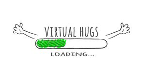 Free Progress Bar With Inscription - Virtual Hugs Loading And Happy Fase In Sketchy Style. Stock Images - 135781954