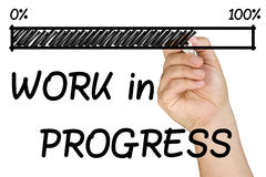 Progress Bar Work Hand Marker Isolated royalty free stock photography