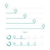 Progress Bars With Circle. Vector Illustration Royalty Free Stock Image
