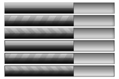 Progress bars graphite Stock Images