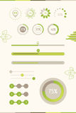 Progress Bars With Green Leaf. Vector Illustration. Eco Load Pro Royalty Free Stock Photo