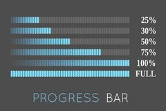 Progress bars Stock Images