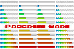 Progress Bars Set Stock Image