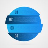 1 2 3 4 progress blue and white symbol. One two three four step vector infographic element. Isolated Circle icon illustration Stock Image