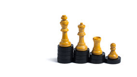 Progress. Board game figures in front of white background - Concept of progression Royalty Free Stock Photography