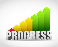 Progress business graph illustration design Royalty Free Stock Photo