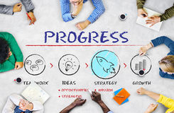 Progress Business Plan Growth Strategy Concept. Progress Business Plan Strategy Concept Royalty Free Stock Photography