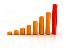 Progress chart Stock Images