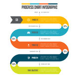 Progress Chart Infographic Royalty Free Stock Photography