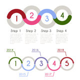 Progress chart statistic concept. Infographic  template for presentation. Timeline statistical chart. Business flow process Royalty Free Stock Images