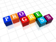 Progress in colour 2 Royalty Free Stock Image