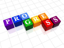 Progress in colour Royalty Free Stock Photos
