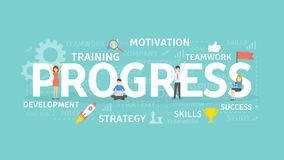 Progress concept illustration. Royalty Free Stock Images