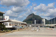 Progress of construction of the Rio 2016 Olympic Park Royalty Free Stock Images