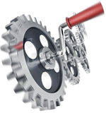 Progress. 3D rendering of moving gears Stock Images