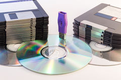 Progress of data storage Royalty Free Stock Images