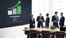 Progress Development Imrpovement Advancement Concept Stock Image