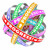 Progress Endless Cycle Continuous Improvement Forward Movement Stock Photo