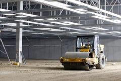 progress för insida för byggnadscompactor industriell Royaltyfria Bilder