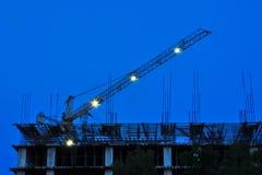 progress för kran för byggnadskonstruktion royaltyfri bild