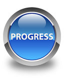 Progress glossy blue round button Royalty Free Stock Image