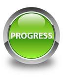 Progress glossy green round button Royalty Free Stock Photo