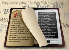 Progress is going. The Holy Writ is unchanged. Stock Image