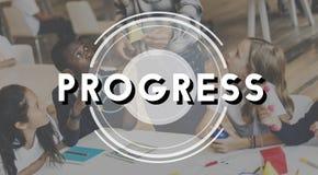 Progress Improvement Advance Strategy Business Concept. Children Progress Improvement Advance Strategy Business Royalty Free Stock Photo