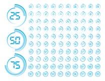 Progress Indicator. Vector Illustration of Blue Round Progress Indicator Stock Photo