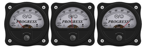 Progress indicator Stock Foto's