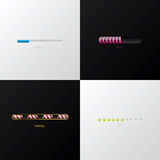 Progress indicator design set Stock Image