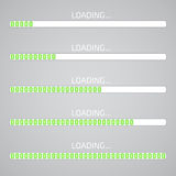 Progress loading bar. Flat style vector Stock Image