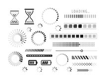 Loading icon. Load, download, indicator symbol. Vector. Progress loading bar, set of icons. Load symbol. vector isolated on white background vector illustration