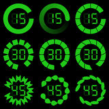 Progress loading bar. Set of indicators. Vector illustration Stock Photos