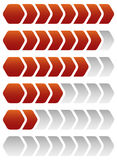 Progress, loading bars. Geometric step, phase indicators, meters. Royalty free vector illustration Royalty Free Stock Images