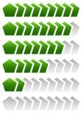 Progress, loading bars. Geometric step, phase indicators, meters Stock Photography
