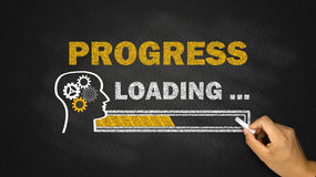 Progress loading concept Royalty Free Stock Photos
