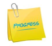 Progress memo post illustration design Stock Photo