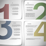 Progress paper pages. Eps10 vector illustration Stock Image